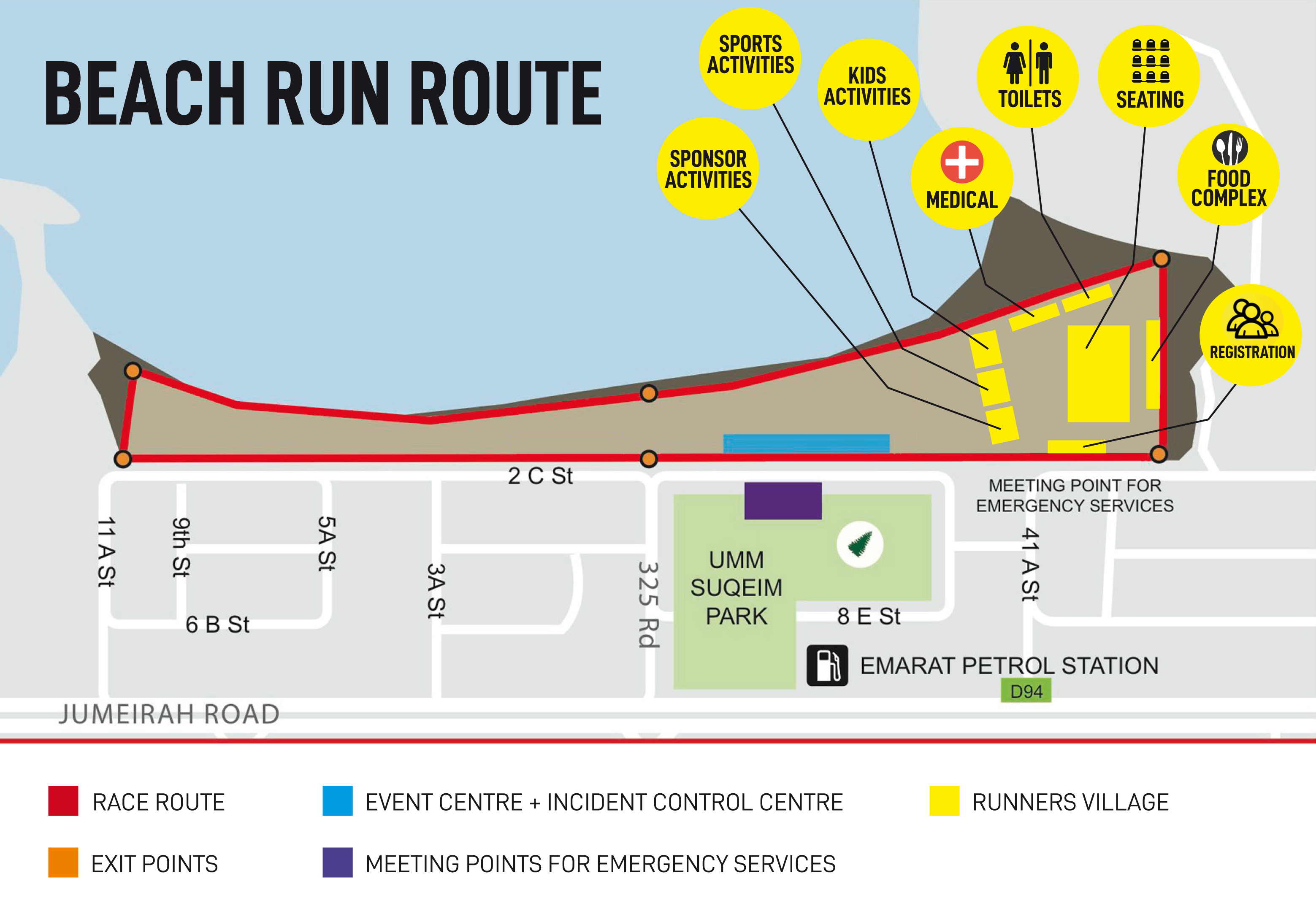 BEACH RUN ROUTE